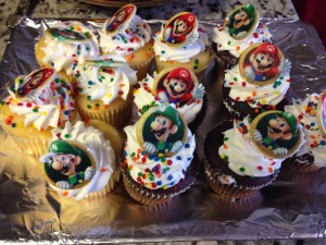 What's a birthday without Mario cupcakes